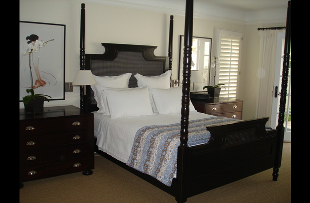 Master Bedroom; high quality linens